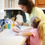 Mom and Daughter Washing Hands-1
